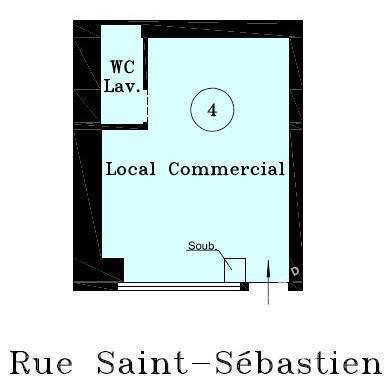 Vente et location Local commercial Paris 11E (75011) 15m² 200.000€