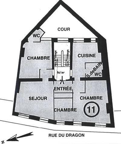 Bureaux, local professionnel Paris 6E (75006) - 101m² - 1.700.000€
