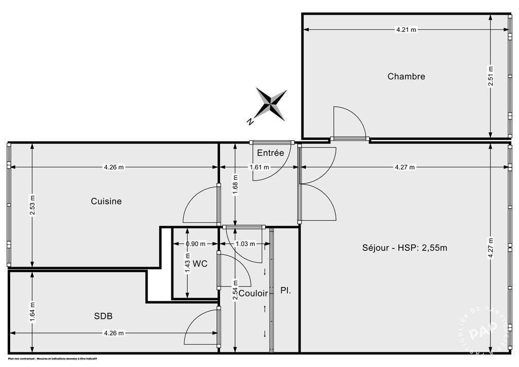 Vente Appartement Noisy-Le-Sec (93130) 51m² 230.000€