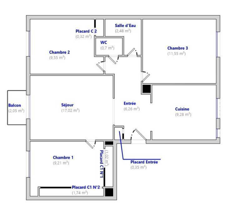 Appartement 195.000€ 71m² Domont (95330)