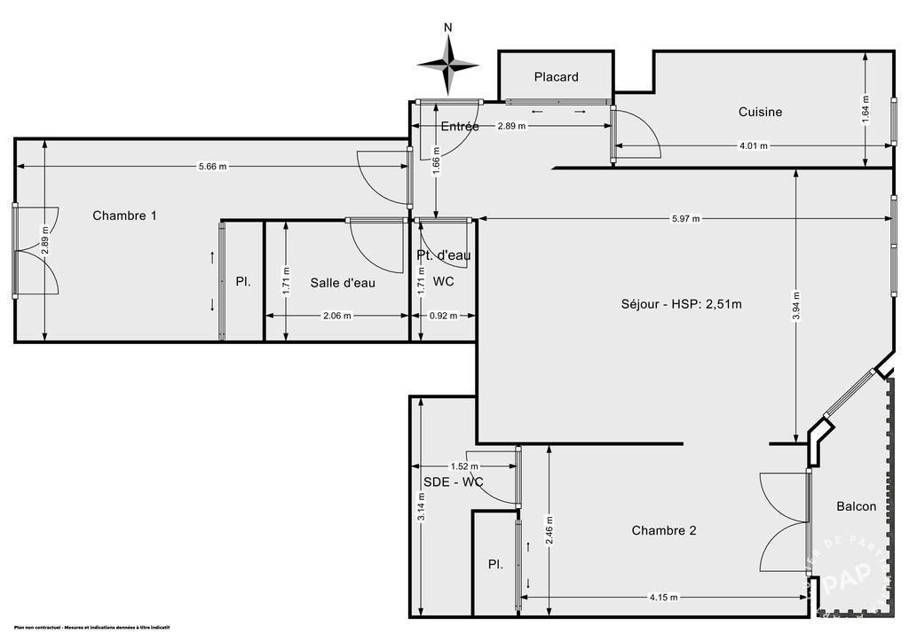 Vente Appartement Montrouge (92120) 63m² 220.000€