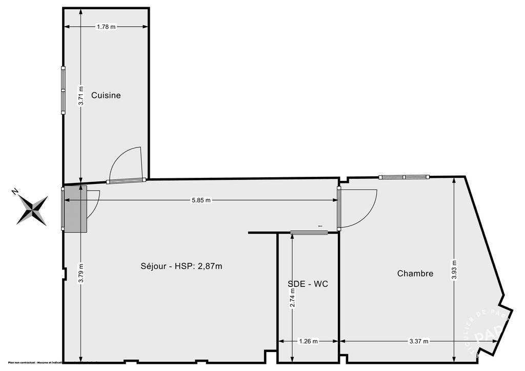 Vente Appartement Bagnolet (93170) 40m² 310.000€