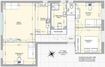 Vente appartement 4pièces 67m² Le Raincy (93340) - 239.000€