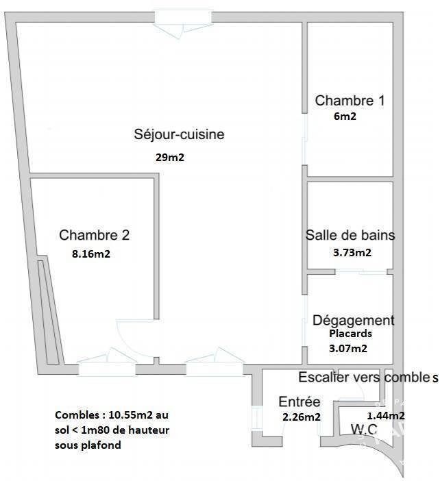 Immobilier Paris 11E (75011) 705.000€ 64m²