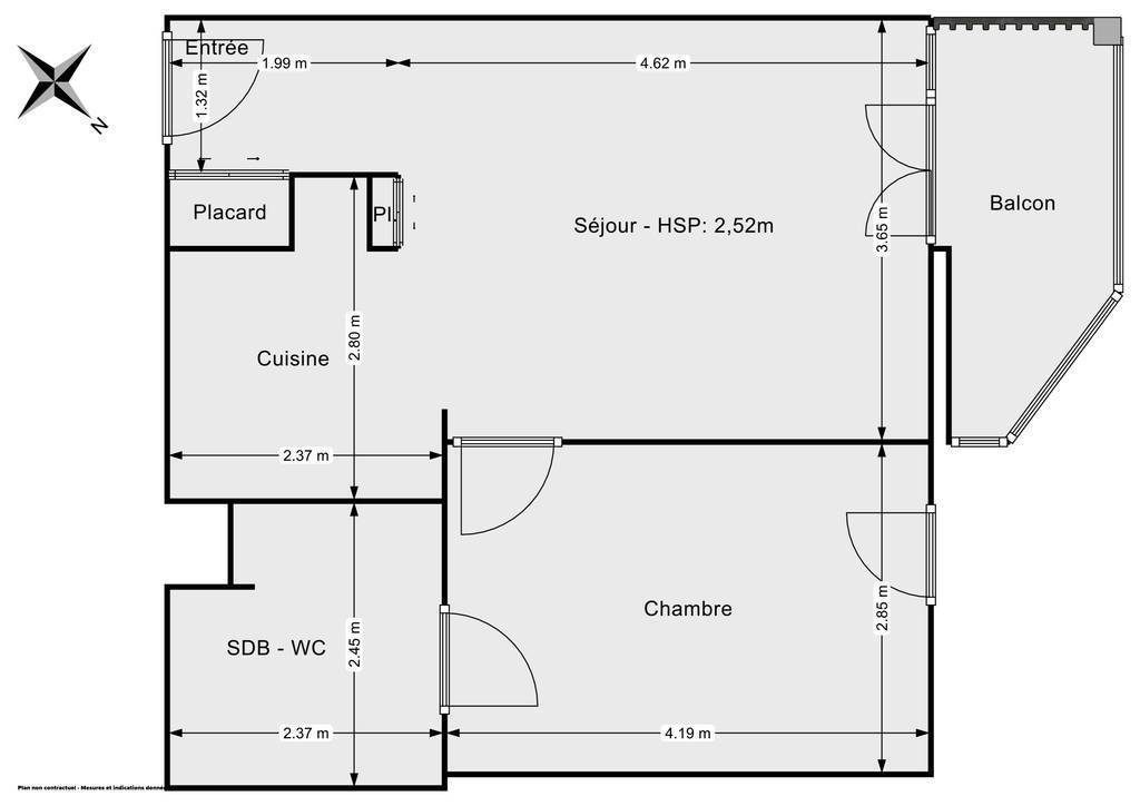 Vente Appartement Poissy (78300) 41m² 230.000€