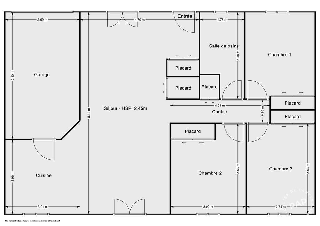 Vente Maison Saint-Seurin-Sur-L'isle (33660) 90m² 144.300€