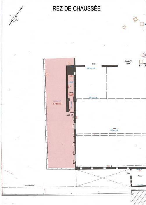 Vente et location Local d'activité 70m²