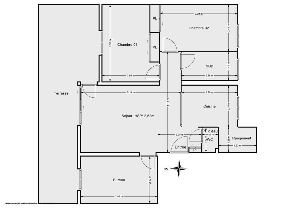 Vente Appartement Sèvres (92310) 62m² 450.000€