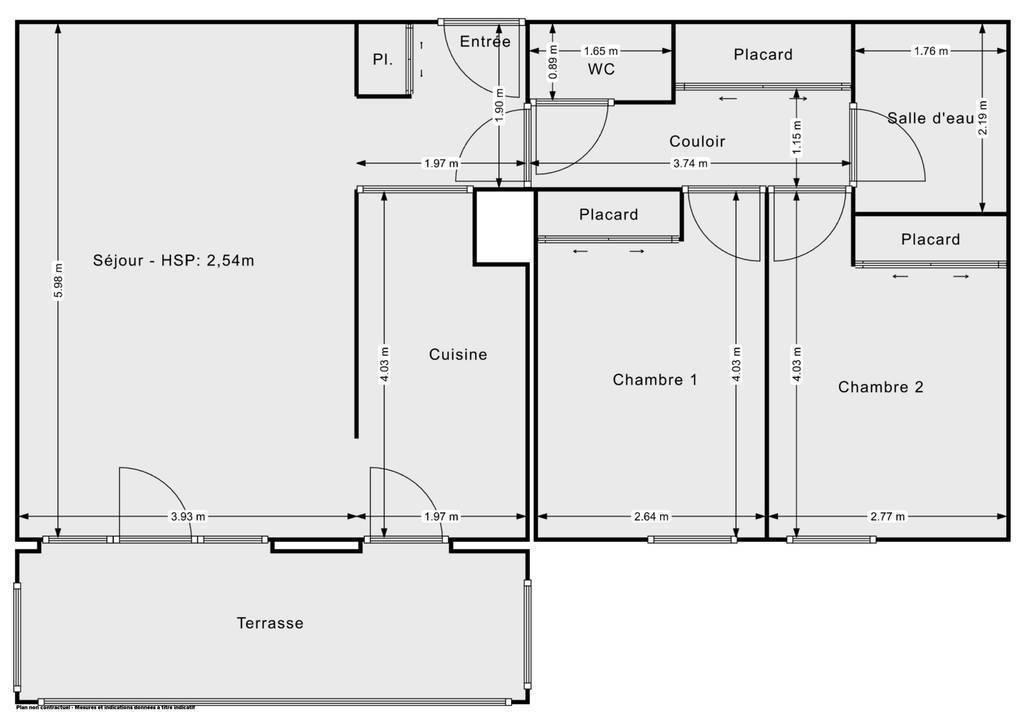 Vente Appartement Istres (13800) 63m² 210.000€