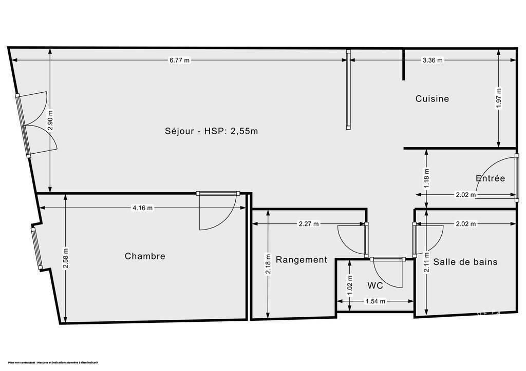 Vente Appartement La Cadière-D'azur (83740) 53m² 165.000€
