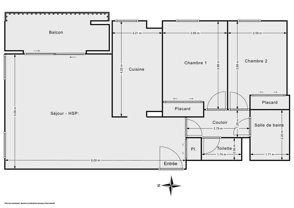 Vente Appartement Toulouse (31200) 70m² 178.000€