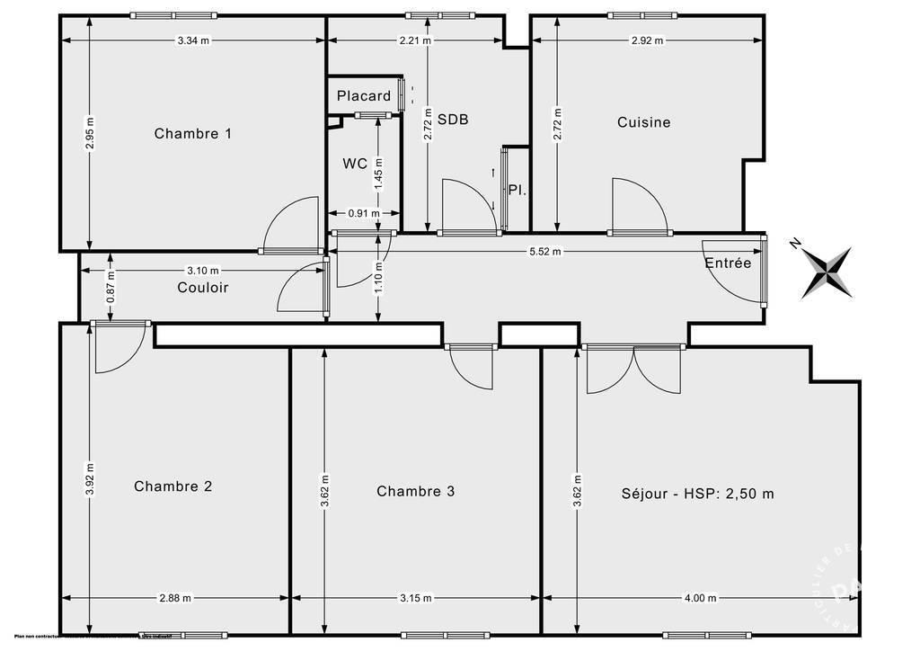 Vente Appartement Drancy (93700) 71m² 210.000€