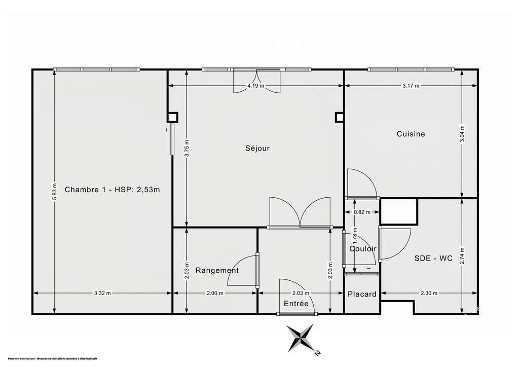 Vente Appartement Saint-Germain-En-Laye (78100) 60m² 380.000€