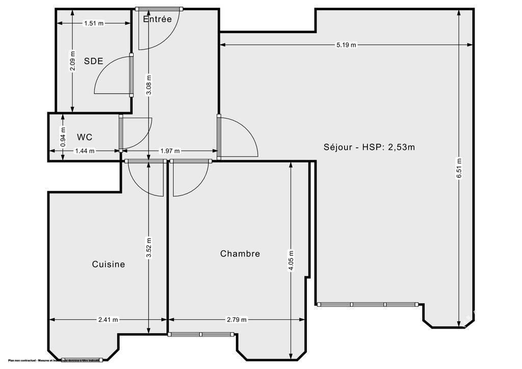 Vente Appartement Sin-Le-Noble (59450) 53m² 39.000€