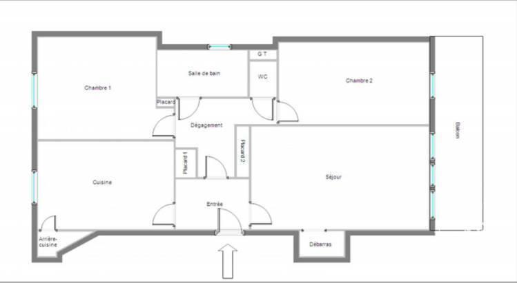 Appartement 349.000€ 66m² Ivry-Sur-Seine (94200)