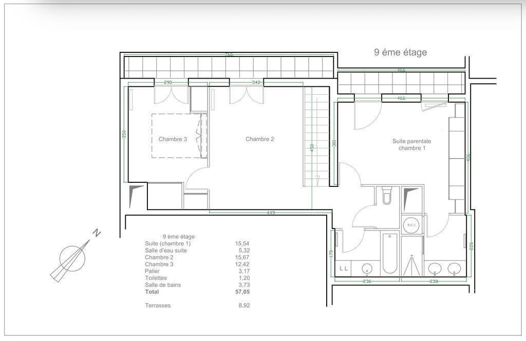 Appartement 113m²