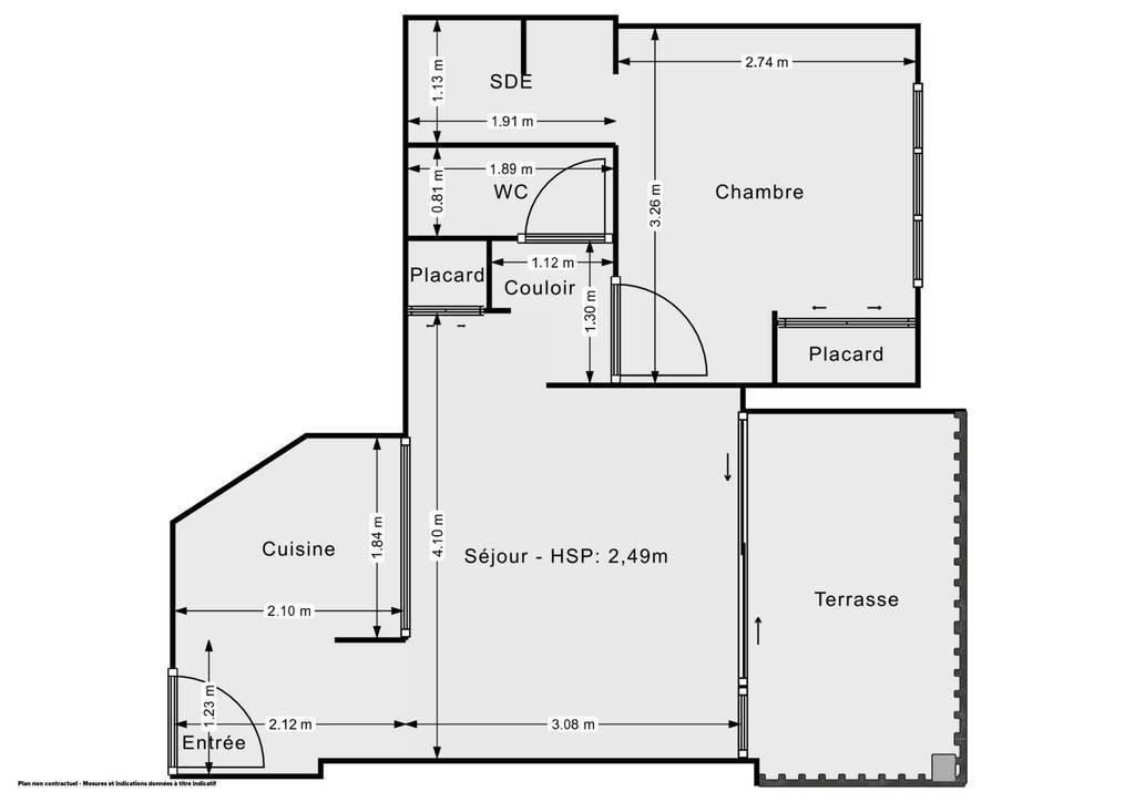 Vente Appartement Montélimar (26200) 30m² 89.000€