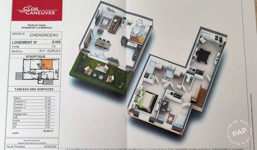 Vente appartement 4 pièces Roquefort-la-Bédoule (13830)