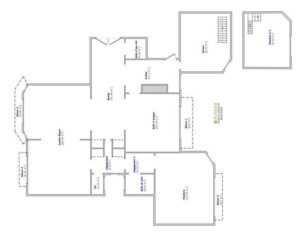 Immobilier Paris 16E (75116) 2.170.000€ 149m²