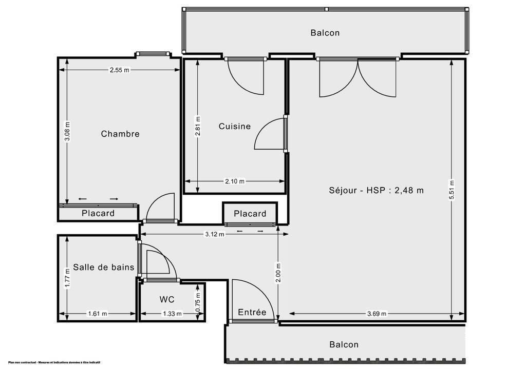 Vente Appartement Aucamville (31140) 45m² 129.900€