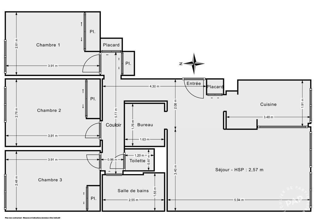 Vente Appartement Sèvres (92310) 78m² 393.000€