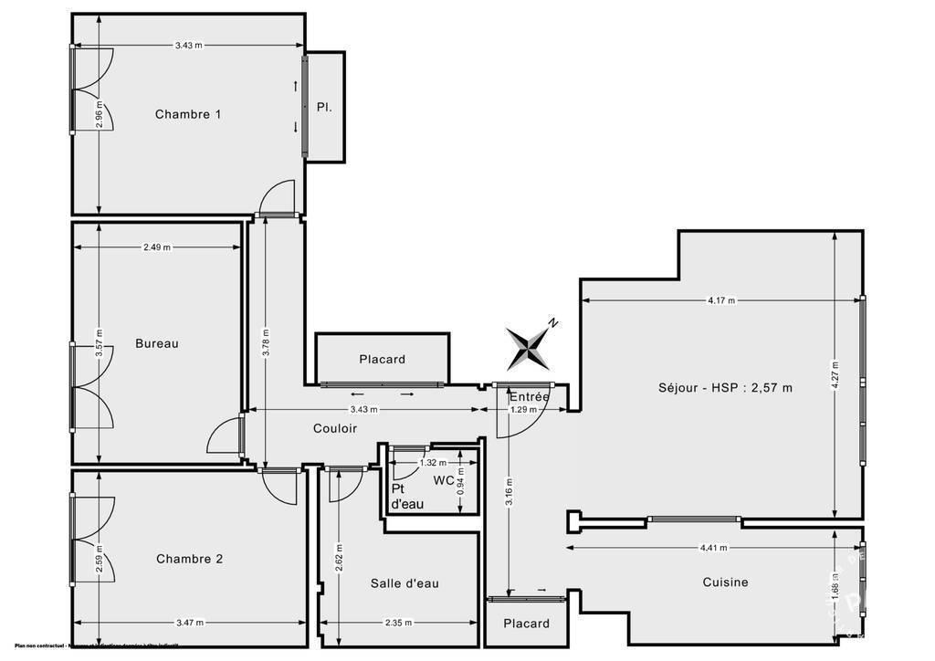 Vente Appartement Vanves (92170) 73m² 460.000€