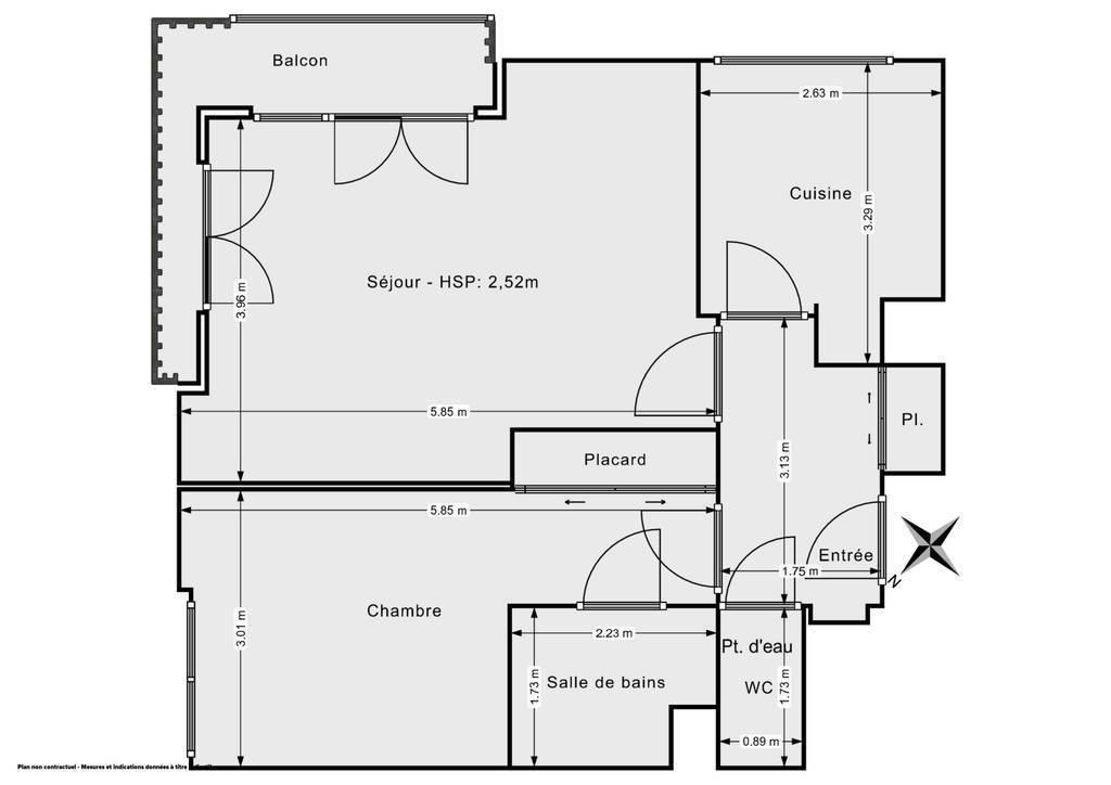 Vente Appartement Issy-Les-Moulineaux (92130) 54m² 469.000€