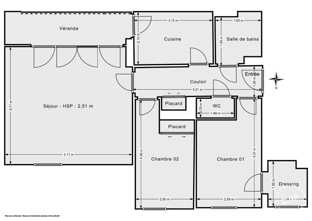 Vente Appartement Joué-Lès-Tours (37300) 65m² 140.000€