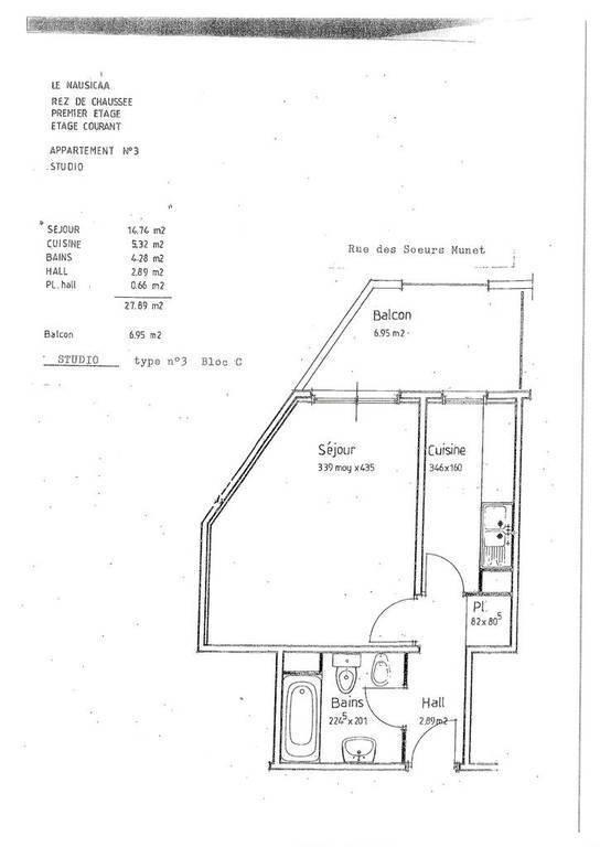 Vente appartement studio Menton (06500)