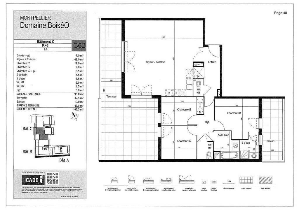 Appartement 555.000€ 96m² Montpellier (34000)