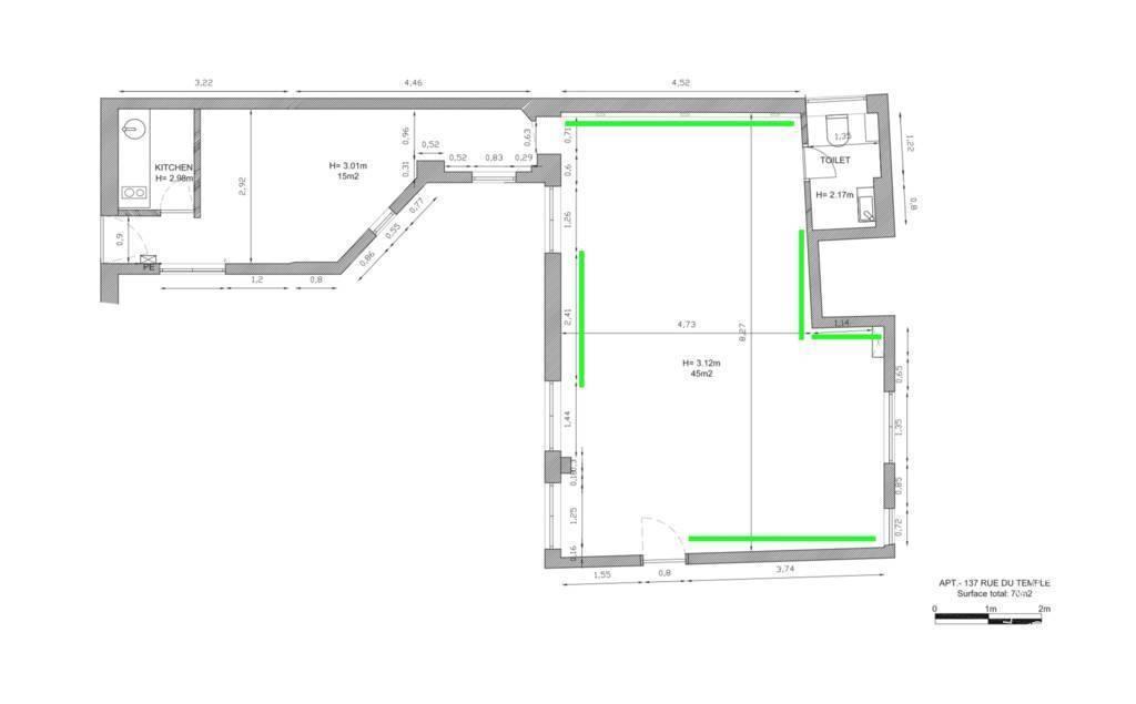 Bureaux, local professionnel 3.600€ 75m² Paris 3E (75003)