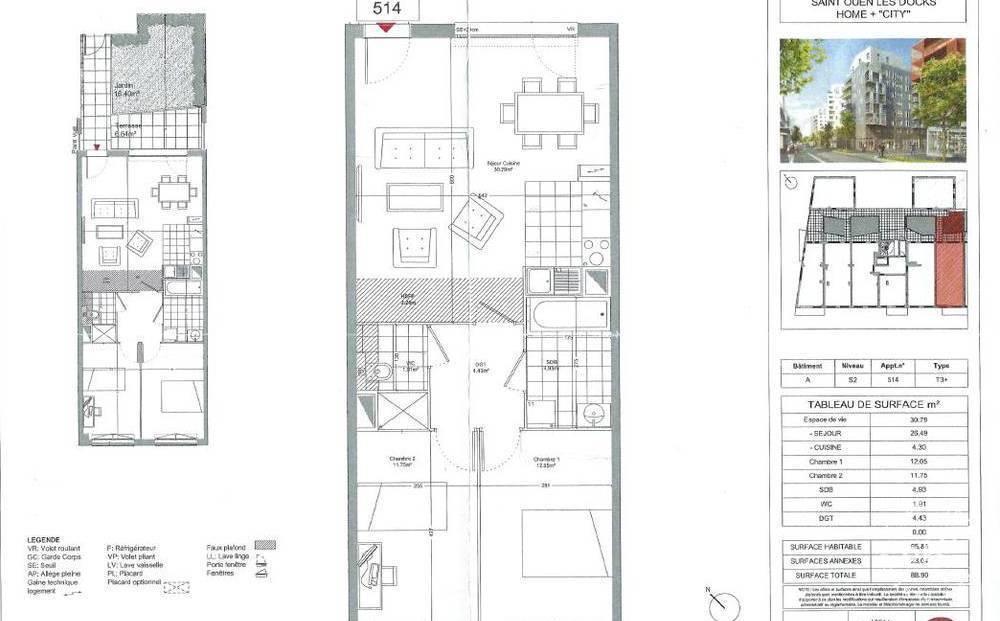 Immobilier Saint-Ouen (93400) 480.000€ 66m²