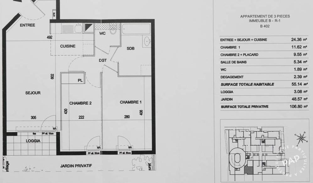 Immobilier Vitry-Sur-Seine 280.000€ 56m²