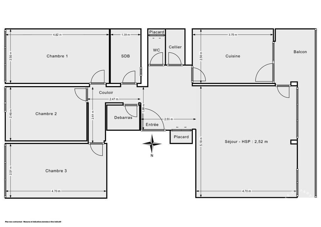 Vente Appartement Rueil-Malmaison (92500) 81m² 412.000€