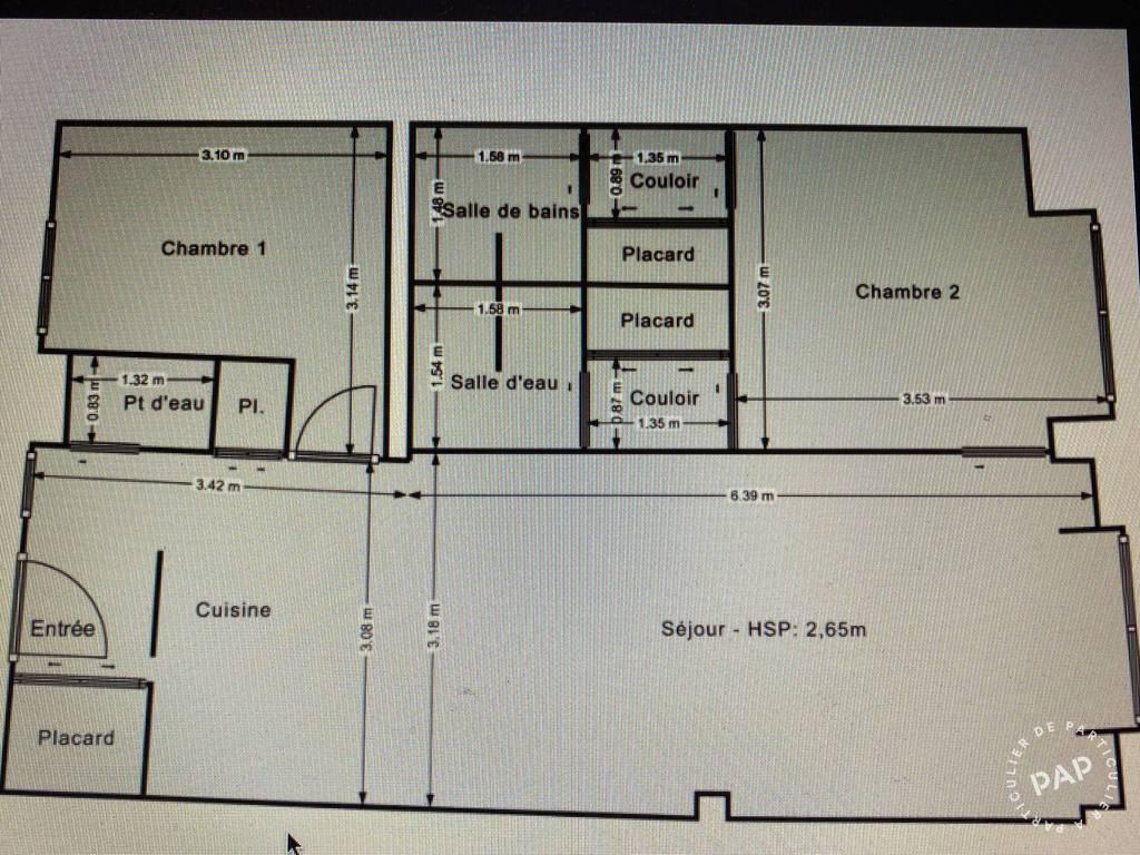 Vente Appartement Paris 2E (75002) 60m² 750.000€