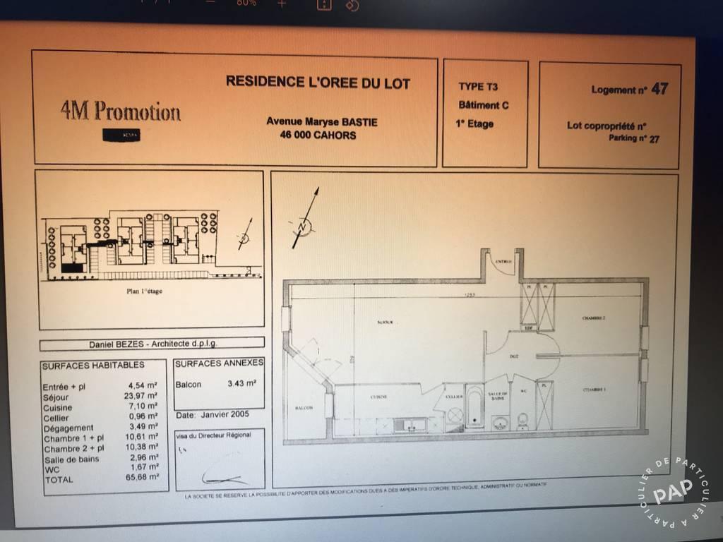 Vente appartement 3 pièces Cahors (46000)