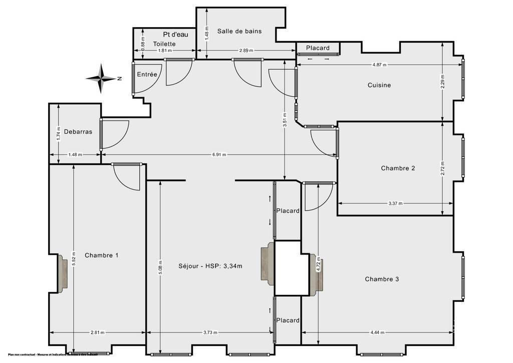 Vente Appartement Lyon 6E (69006) 94m² 660.000€