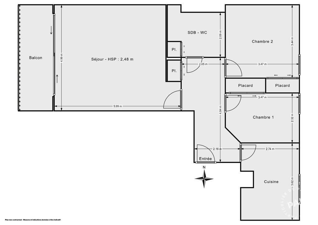 Vente Appartement Toulouse - Saint Simon Tibaous 74m² 185.000€