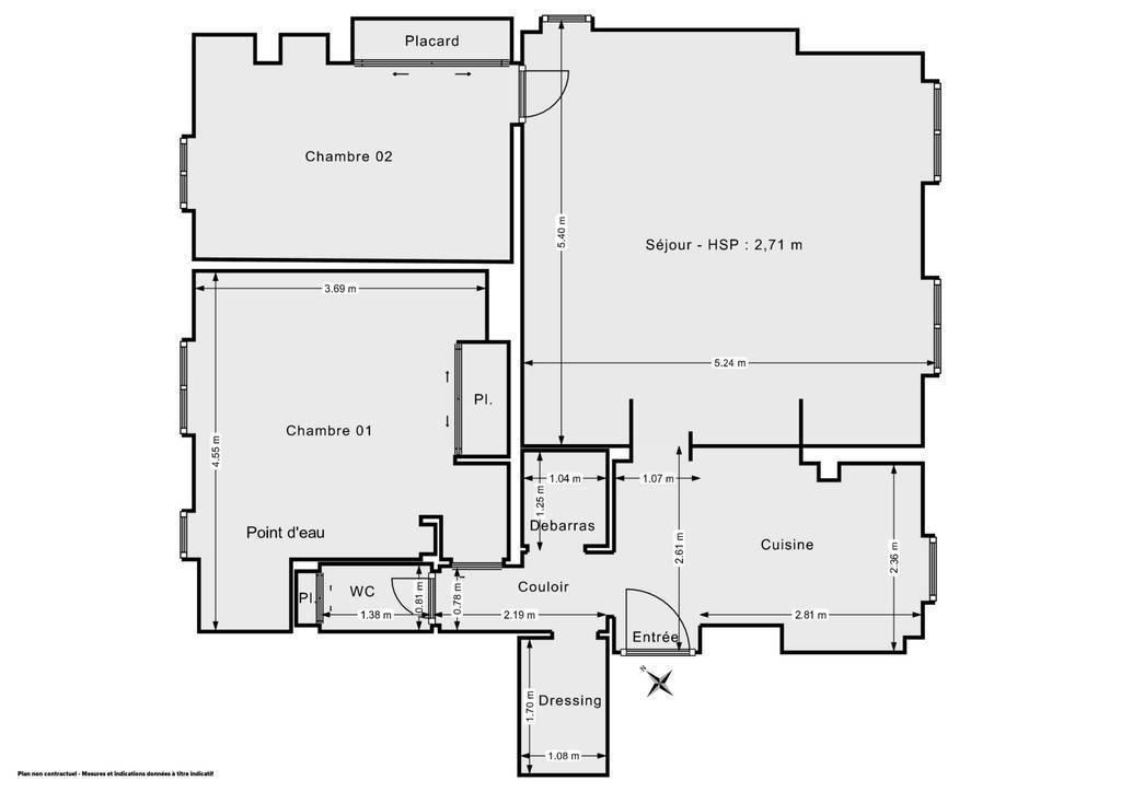 Vente Appartement Paris 20E (75020) 70m² 735.000€