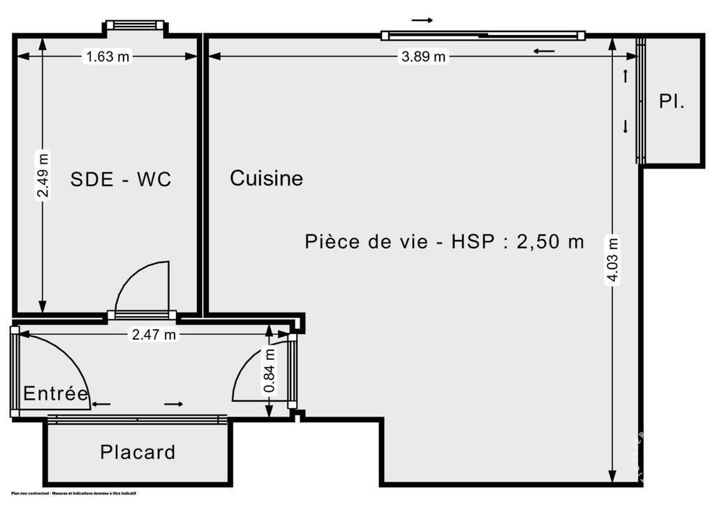 Vente Appartement Vence 24m² 98.000€