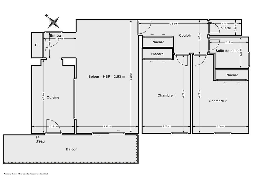 Vente Appartement Marseille 13E (13013) 60m² 210.000€