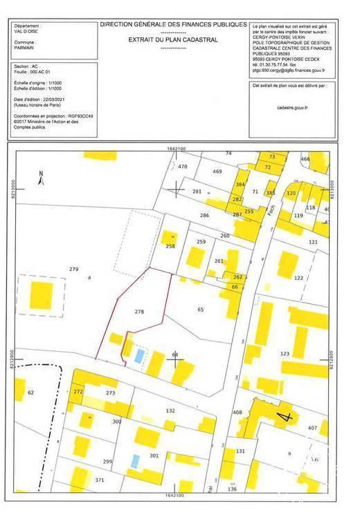 Vente Terrain Parmain (95620)  1.275.000€