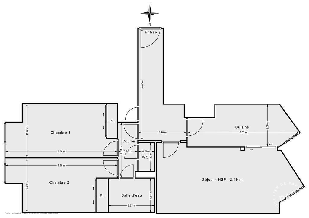 Vente Appartement Paris 14E (75014) 76m² 765.000€