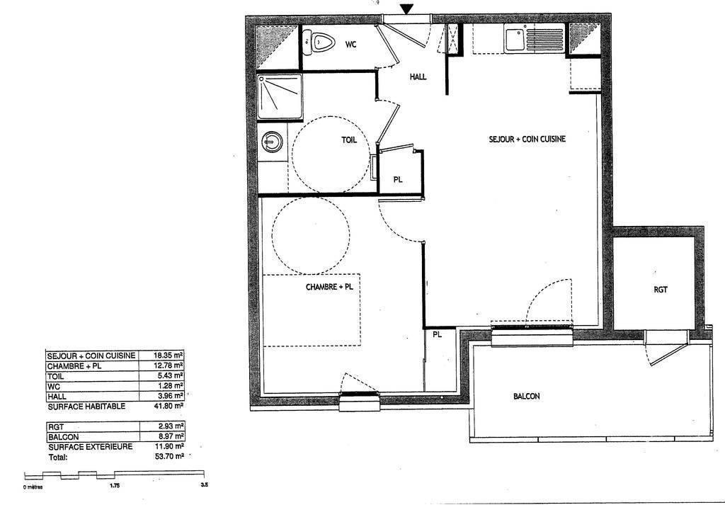 Vente Appartement Francheville (69340) 41m² 215.000€