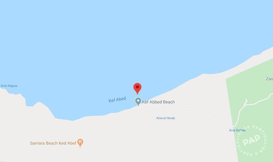 Vente Terrain Tunisie - Terrain Titré  De 14000 M2 À 50 M De La Mer, Kef Abbed, Bizerte.