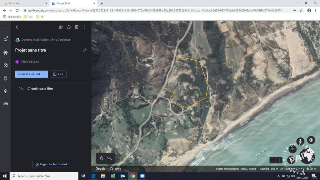 Terrain Tunisie - Terrain Titré  De 14000 M2 À 50 M De La Mer, Kef Abbed, Bizerte. 588.000€