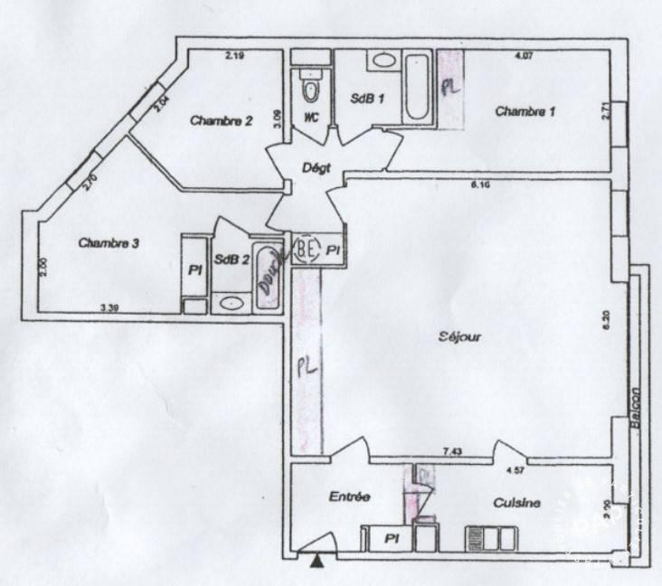 Immobilier Paris 14E (75014) 1.280.000€ 104m²