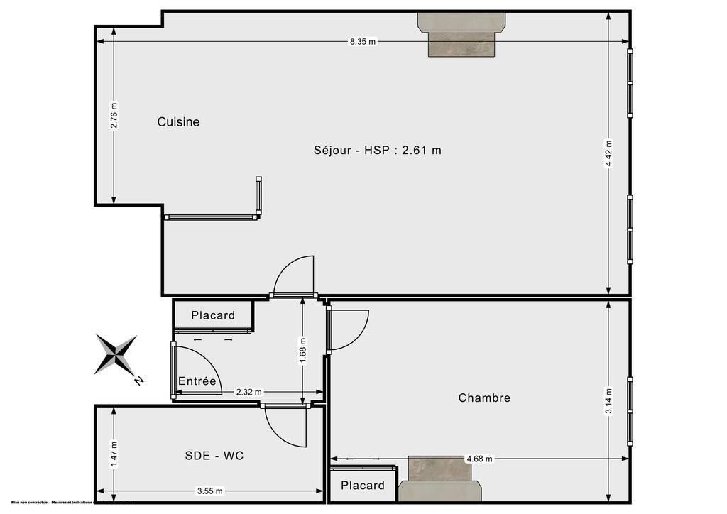 Vente Appartement Aix-En-Provence (13100) 56m² 290.000€