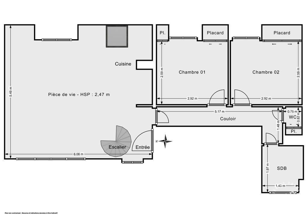 Vente Appartement Paris 11E (75011) 58m² 820.000€