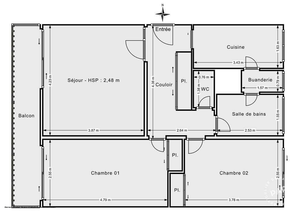 Vente Appartement Le Mée-Sur-Seine (77350) 62m² 113.000€